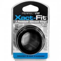 XACT FIT KIT 3 ANILLOS DE SILICONA 35 CM 4 CM Y 5 CM