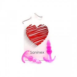 SANINEX PLUG INITIATION 3D PLEASURE ECONOMIC LINE ROSA