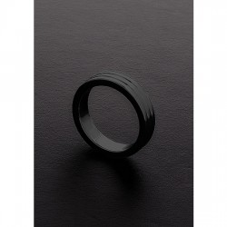 GOLDEN BLACK RIBBED C RING 10X40MM