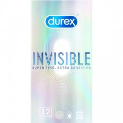 DUREX INVISIBLE SUPER FINO EXTRA SENSITIVO 12 UDS