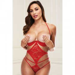 SHOW ME STRAPPY TEDDY RED