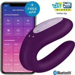 SATISFYER DOUBLE JOY CON APP MORADO