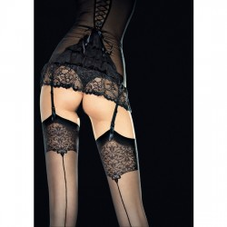 VESPER STOCKINGS MEDIAS CON DETALLE 20 DEN NEGRO
