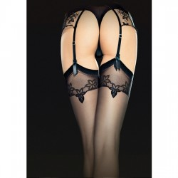 ECLIPSE STOCKINGS MEDIAS ESTAMPADO 20 DEN NEGRO