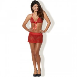 KISS ME LITTLE TREAT SET 3 PIEZAS ROJO